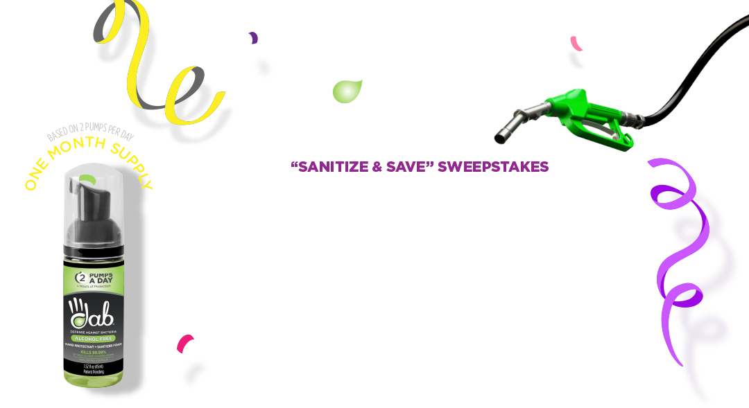 DAB | Sanitize & Save Sweepstakes | Race To Win $1,000's in Fuel Prizes