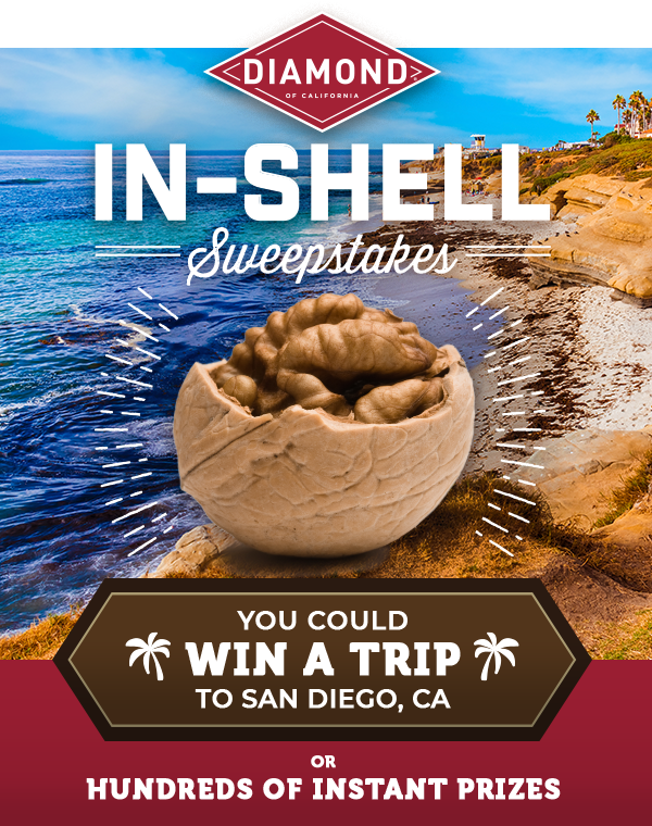 Diamond of California In A Nutshell Sweepstakes | You Could Win a Trip to San Diego, CA or Hundreds of Instant Prizes